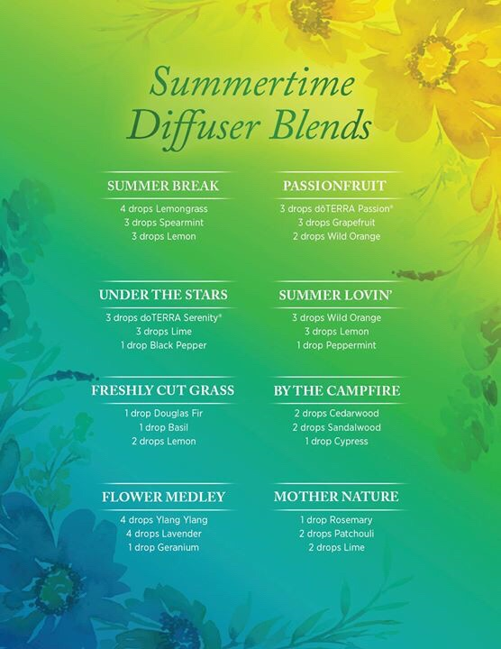 Summertime diffuser blends